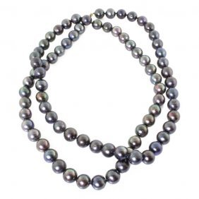 Large Strand Of South Sea Pearls