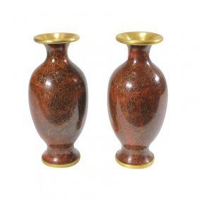 2 Cloisonné Vases