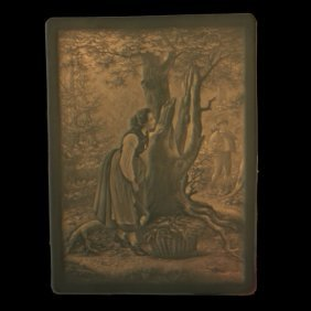 Woman Behind The Tree Lithophane Panel