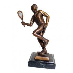 Sherman Bronze Tennis Sculpture
