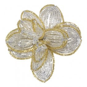 Zora Da Venezia Murano Glass Flower Brooch