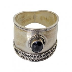 Sterling Ring With Sapphire