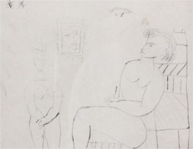 Signed And Numbered Etching By Henry Miller