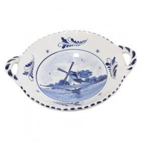 Delft Blue And White Handled Bowl