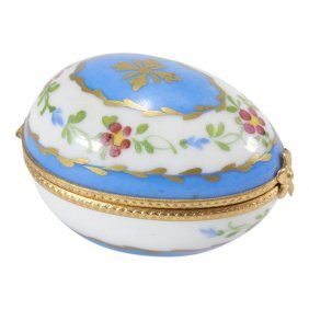 Limoges France Porcelain Trinket Box