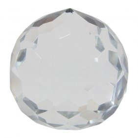 Tiffany & Co. Crystal Faceted Paperweight