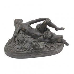 D. Julian Hayes Erotic Pan Bronze Sculpture