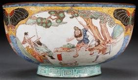 A Very Fine Chinese Canton Enamel Scenic Bowl