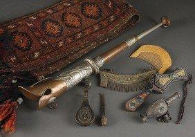 A SINO-TIBETAN AND PERSIAN DECORATIVE ARTS GROUP,