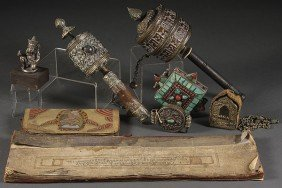 A SINO-TIBETAN HINDU AND BUDDHIST DECORATIVE ARTS