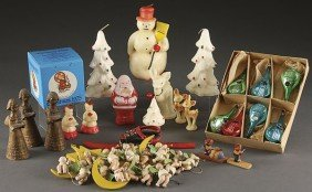 VINTAGE CHRISTMAS DECORATIONS AND ORNAMENTS