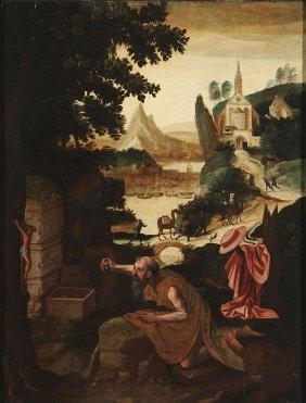 FLEMISH 16TH CENTURY OIL ON PANEL OLD MASTER