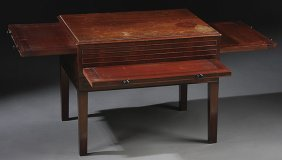 MAHOGANY DRAW LEAF SIDE TABLE