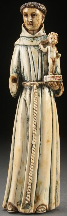 17th Century French Carved Ivory Saint