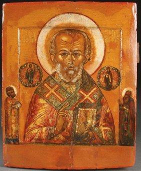 Russian Icon St. Nicholas, 17th C