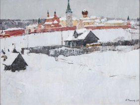Russian Painting By Timkov, 1965