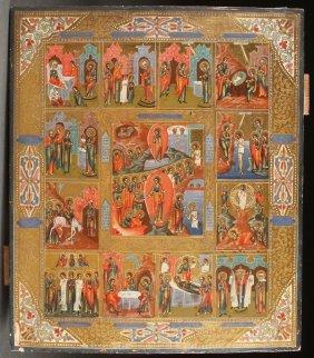 Russian Icon Resurrection & Feasts