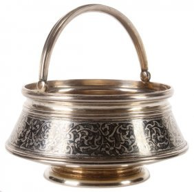 Russian Silver & Nielloed Basket