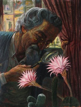 Painting Of A Botanist, Dated 1933