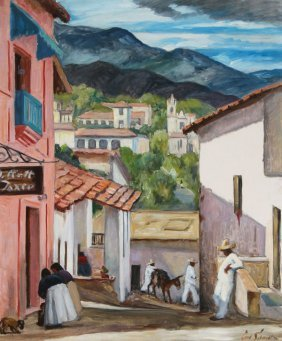 Carl Schmidt Painting Of Taxco, Mexico