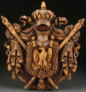 Carved Napoleonic Coat Of Arms