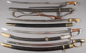 Four Russian Style Reproduction Edged Weapons