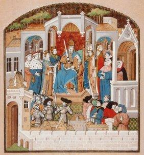 Hand Illuminated Illustration, French 18th/19th C