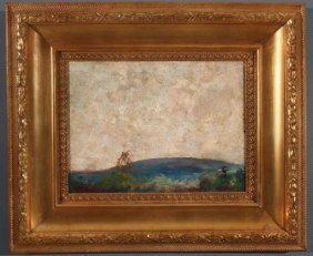 Signed American Landscape Painting, 1925