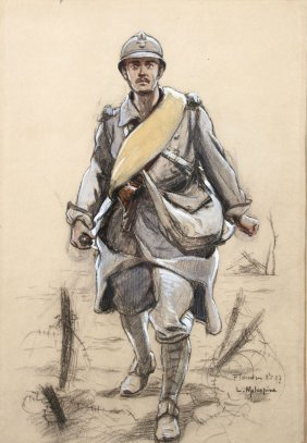 French Watercolors, Circa 1918