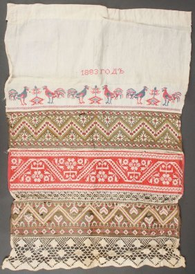 Russian/ukrainian Embroidered Articles. C 1890