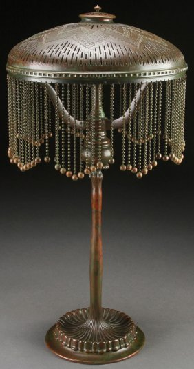 "Tiffany Studios Bronze ""moorish"" Table Lamp"