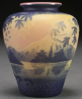 A Devez French Cameo Art Glass Vase, Early 20th C