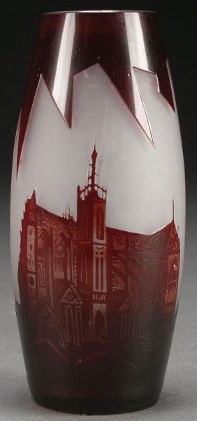 A French Ve Eram Cameo Art Glass Vase