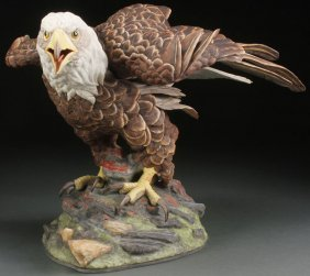 American Boehm Porcelain Eagle Of Freedom Figure