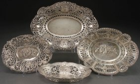 A Group Of Four Hanau Style Silver Bowls, Germany