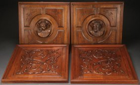 Two Pairs Of Italian Renaissance Revival Carved Panels
