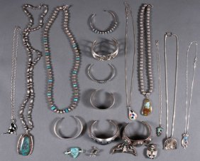 21 Pc Group Of Mostly Southwestern Native Jewelry