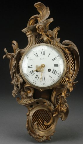 A French 19th Century Bronze Cartel Wall Clock.
