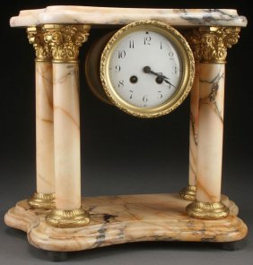 A French Neo-classic Marble And Gilt Bronze Displ