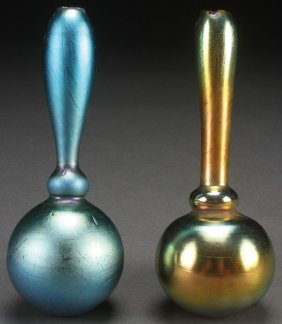 "A Pair Of Steuben Art Glass ""whimsy"" Sock Darners"