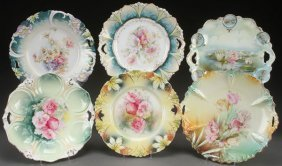 Six R.s. Prussia And Germany Cake Plates,