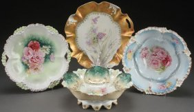 4 R.s. Prussia Porcelain Bowls And Cake Plates