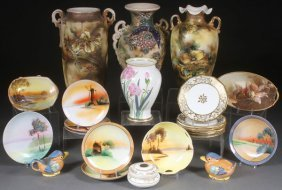 23 Piece Japanese, Nippon Porcelain And Pottery