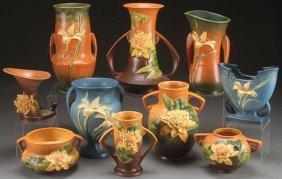 A Collection Of Roseville Art Pottery, Circa 1930