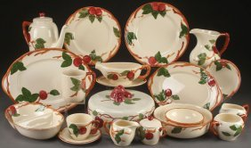 """A Collection Of Franciscan """"apple"""" Pottery"""