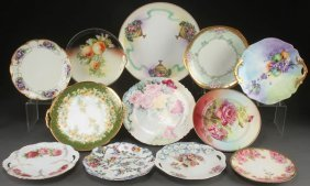 A Collection Of 13 Porcelain Cabinet Plates, 19th