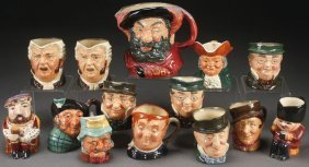 A 14 Piece Group Of Royal Doulton And Style Tobys