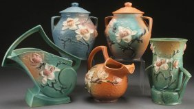 "A Collection Of Roseville ""magnolia"" Art Pottery,"