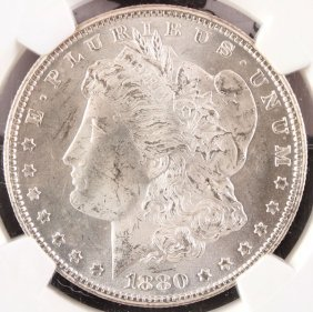 Two Fine U.s. Carson City Morgan Silver Dollars.