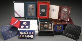 A Collection Of U.s. Mint Unc And Proof Sets Incl